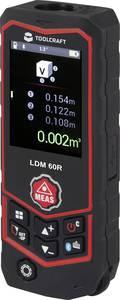 Bluetoothos lézeres távolságmérő vízmértékkel max. 60 m, Toolcraft LDM 60 R TOOLCRAFT