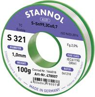 Ólommentes forrasztóón 100 g 1 mm Sn99.3Cu0.7 Stannol S321 Stannol