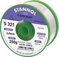 Stannol S321 2,0% 2,0MM SN99,3CU0,7 CD 250G Forrasztóón, ólommentes Ólommentes, Tekercs Sn99.3Cu0.7 250 g 2 mm Stannol