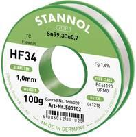 Stannol HF34 1,6% 1,0MM FLOWTIN TC CD 100G Forrasztóón, ólommentes Tekercs, Ólommentes Sn99.3Cu0.7 100 g 1 mm (580102) Stannol