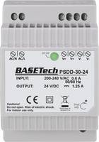 Basetech PSDD-30-24 Kalapsínes tápegység 24 V 1.25 A 30 Wp 2 x Basetech