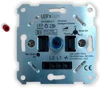 Shada 0190010 Beépíthető dimmer Alkalmas fényforrásokhoz: LED-es izzó Alumínium Shada