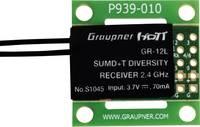 16 csatornás vevő Graupner GR-12L 2,4 GHz Dugaszoló rendszer Nyílt kábelvégek (S1045) Graupner