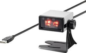 Renkforce FS5022J 2D vonalkód szkenner Vezetékes 2D Imager Ezüst, Fekete Asztali szkenner USB Renkforce