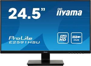 "Iiyama ProLite E2591HSU LED monitor (felújított) 62.2 cm (24.5 "") EEK A+ (A+++ - D) 1920 x 1080 pixel Full HD 1 ms VGA, Iiyama"