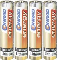 Mikroelem készlet lítium 1100 mAh 1.5 V 4 db, Conrad energy Extreme Power FR03 Conrad energy