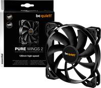 BeQuiet Pure Wings 2 PWM Számítógépház ventilátor Fekete (Sz x Ma x Mé) 120 x 120 x 25 mm (BL081) BeQuiet