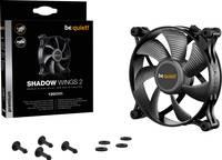 BeQuiet Shadow Wings 2 Számítógépház ventilátor Fekete (Sz x Ma x Mé) 120 x 120 x 25 mm (BL085) BeQuiet