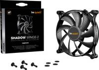 BeQuiet Shadow Wings 2 Számítógépház ventilátor Fekete (Sz x Ma x Mé) 140 x 140 x 25 mm BeQuiet