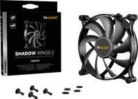 BeQuiet Shadow Wings 2 Számítógépház ventilátor Fekete (Sz x Ma x Mé) 140 x 140 x 25 mm (BL087) BeQuiet