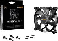 BeQuiet Shadow Wings 2 Számítógépház ventilátor Fekete (Sz x Ma x Mé) 120 x 120 x 25 mm BeQuiet