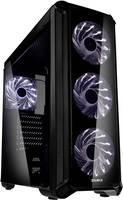 Midi torony Számítógép ház Zalman I3 Edge Fekete 4 előre telepített LED-hűtő, Oldalsó szélvédő Zalman