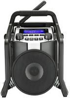 PerfectPro PowerPlayer DAB+ Műhelyrádió Bluetooth®, AUX, URH, USB porvédett, ütésálló, Fröccsenő víz ellen védett, Újra (PP800L) PerfectPro