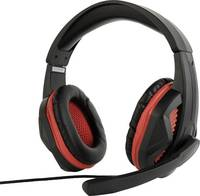 Gembird GHS-03 Headset játékhoz 3,5 mm-es jack Vezetékes Over Ear Fekete, Piros (GHS-03) Gembird