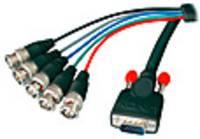 LINDY VGA Csatlakozókábel [1x VGA dugó - 5x BNC dugó] Fekete (31562) LINDY