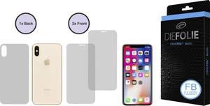 Crocfol DF4919-FB Kijelzővédő fólia Alkalmas: Apple iPhone XS 1 db Crocfol