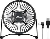 Goobay USB-s asztali ventilátor 2.5 W (Ø x Ma) 130 mm x 160 mm Fekete Goobay