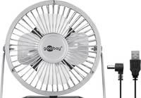Goobay USB-s asztali ventilátor 2.5 W (Ø x Ma) 130 mm x 160 mm Ezüst Goobay