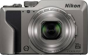 Nikon A1000 silber Digitális kamera 16 MPix Optikai zoom: 35 x Ezüst Elektronikus kereső, Érintőkijelző (VQA081EA) Nikon