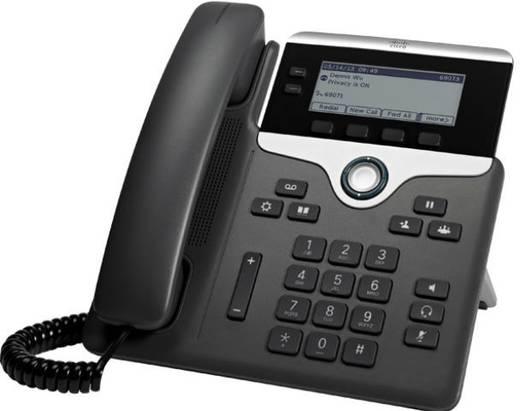 Rendszertelefon, VoIP Cisco Cisco IP Phone 7811-3PCC: - SIP, SRTP, 0 LC kijelző Antracit