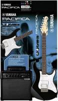 Yamaha PA012BL SPIDERV20 PACK E-gitár készlet Fekete Erősítővel Yamaha