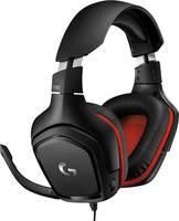Logitech Gaming G332 Headset játékhoz 3,5 mm-es jack Vezetékes Over Ear Fekete, Piros (981-000757) Logitech Gaming