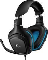 Logitech Gaming G432 Headset játékhoz 3,5 mm-es jack Vezetékes Over Ear Fekete, Kék (981-000770) Logitech Gaming