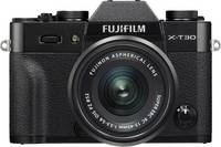 Fujifilm X-T30 XC 15-45 mm Rendszer-fényképezőgép 26.1 Megapixel Fekete Érintőkijelző, Elektronikus kereső, Kihajtható Fujifilm