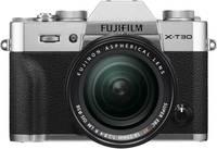 Fujifilm X-T30 XF18-55 mm Rendszer-fényképezőgép 26.1 Megapixel Ezüst Érintőkijelző, Elektronikus kereső, Kihajtható k Fujifilm