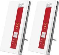 AVM 2er-Set FRITZ!WLAN Repeater 1750E WLAN hatótáv növelő 1.75 Gbit/s 2.4 GHz, 5 GHz AVM