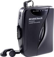 Basetech Hordozható kazetta lejátszó Fekete Basetech