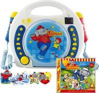 X4 Tech Bobby Joey Benjamin Blümchen Gyermek CD lejátszó CD, SD, USB Karaoke funkcióval, Mikrofonnal Kék, Fehér X4 Tech