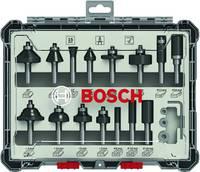 15 db. Vegyes marókészlet 8mm szár Bosch Accessories 2607017472 Bosch Accessories