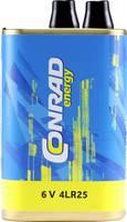 Conrad energy 4LR25X Speciális elem 4LR25 Rugós érintkező Alkáli mangán 6 V 16000 mAh 1 db Conrad energy