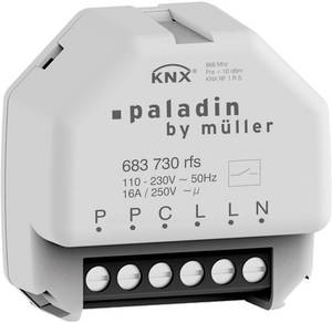 Paladin KNX 683 730 rfs Vezeték nélküli kapcsoló működtető, KNX tartozék 1 csatornás Paladin
