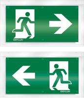 ESYLUX EN10079092 Piktogramm Vészkijárat jobbra, Vészkijárat balra ESYLUX