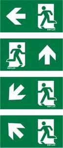 ESYLUX EN10077159 Piktogramm Vészkijárat balra, Vészkijárat balra, felfelé, egyenes, Vészkijárat balra, irány balra lef ESYLUX