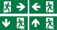 ESYLUX EN10077524 Piktogramm Vészkijárat jobbra, Vészkijárat balra, Vészkijárat lefele, Vészkijárat felfele ESYLUX