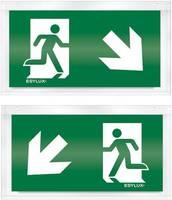 ESYLUX EN10033209 Piktogramm Vészkijárat balra, irány lefelé, Vészkijárat jobbra, irány lefelé ESYLUX