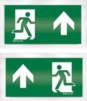 ESYLUX EN10032516 Piktogramm Vészkijárat felfele, iránymegadás balra előre, Vészkijárat felfele, iránymegadás jobbra el ESYLUX