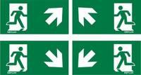 ESYLUX EN10077531 Piktogramm Vészkijárat felfele, iránymegadás balra előre, Vészkijárat felfele, iránymegadás jobbra el ESYLUX