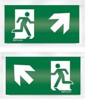 ESYLUX EN10033216 Piktogramm Vészkijárat felfele, iránymegadás balra előre, Vészkijárat felfele, iránymegadás jobbra el ESYLUX