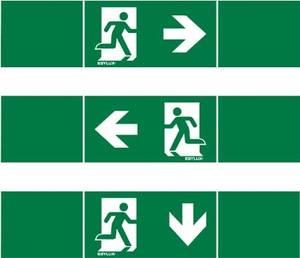 ESYLUX EN10017711 Piktogramm Vészkijárat balra, Vészkijárat jobbra, Vészkijárat lefele ESYLUX