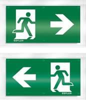 ESYLUX EN10031144 Piktogramm Vészkijárat jobbra, Vészkijárat balra ESYLUX