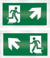 ESYLUX EN10032523 Piktogramm Vészkijárat felfele, iránymegadás balra előre, Vészkijárat felfele, iránymegadás jobbra el ESYLUX