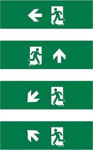 ESYLUX EN10077135 Piktogramm Vészkijárat balra, Vészkijárat felfele, Vészkijárat lefele, Vészkijárat felfele, iránymega ESYLUX