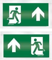 ESYLUX EN10033223 Piktogramm Vészkijárat felfele, iránymegadás balra előre, Vészkijárat felfele, iránymegadás jobbra el ESYLUX