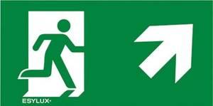 ESYLUX EN10077562 Piktogramm Vészkijárat felfele, iránymegadás jobbra előre ESYLUX