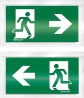 ESYLUX EN10079047 Piktogramm Vészkijárat balra, Vészkijárat jobbra ESYLUX
