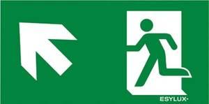 ESYLUX EN10077579 Piktogramm Vészkijárat felfele, iránymegadás balra előre ESYLUX